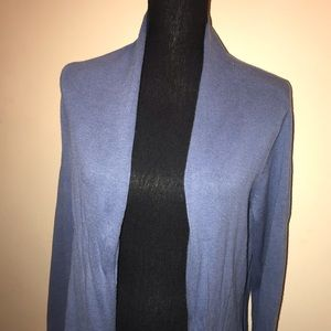 CHICOS purple long open front cardigan